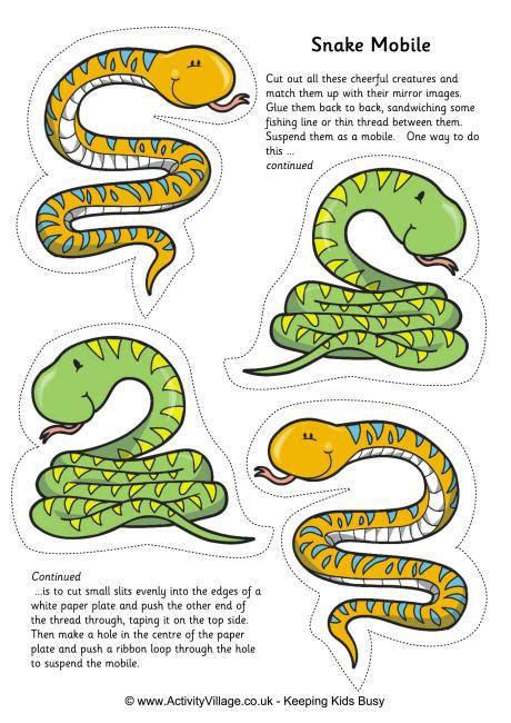 Snake Printables Activity Village