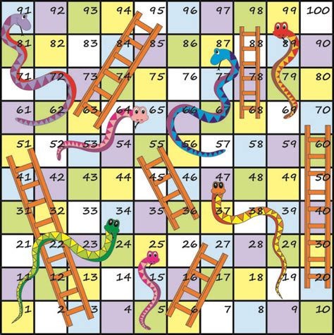 Snakes and Ladders A Free Printable Learning Game for Kids
