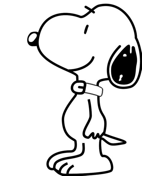Snoopy color page Cartoon characters coloring