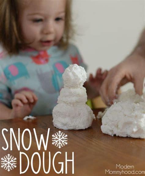 Snow Dough Recipe for Winter Sensory Play The