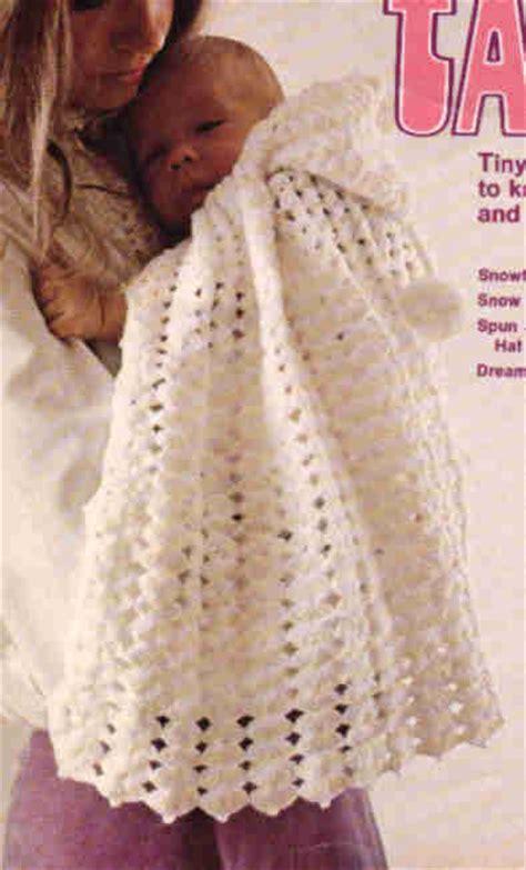 Snowflake Cape Jacket Beret cap afghan BABY AFGHAN