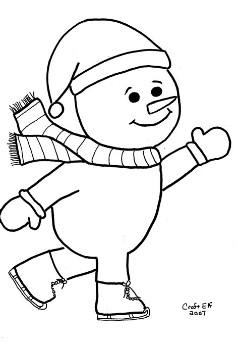 Snowman Coloring Pages Free and Printable
