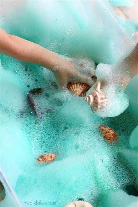 Soapy Sea Foam Sensory Play Twodaloo