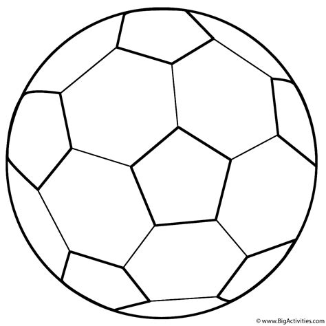 Soccer Ball Coloring Page Sports BigActivities