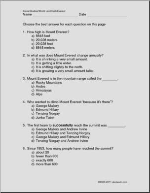 Social Studies Asia Worksheets page 1 abcteach