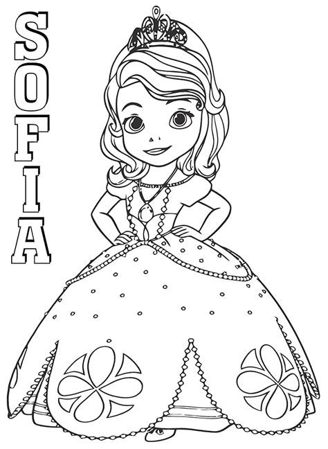 Sofia Princess Coloring Pages tgfact