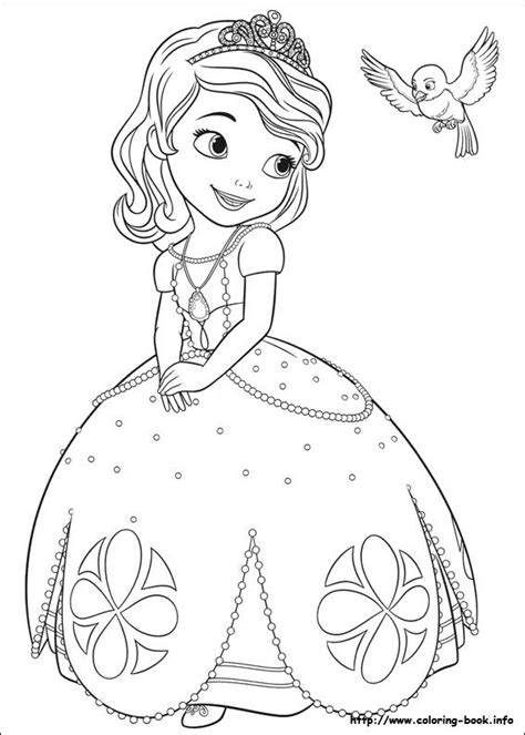 Sofia the First Coloring Pages Disney Fan Club