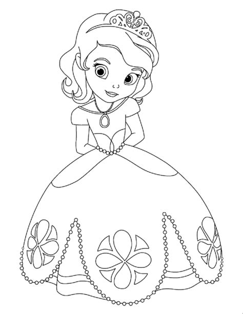 Sofia the First coloring pages Disney princess book