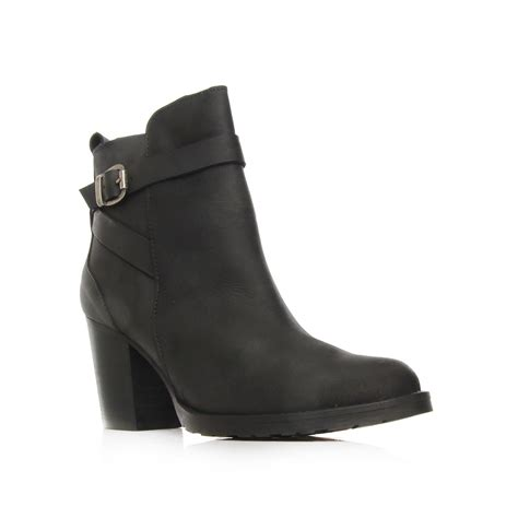 Sofie Black Mid Heel Ankle Boots By Kurt Geiger London