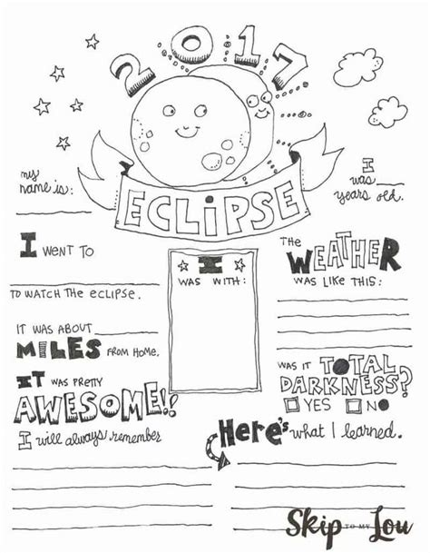 Solar Eclipse Coloring Page Skip To My Lou