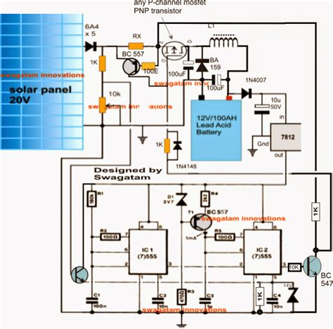 solar charger circuit diagram for battery images boat wiring solar powered high efficiency battery charger circuit diagram