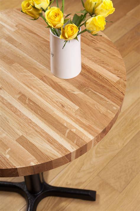 Solid Oak Restaurant Tabletop Round 20mm Worktop Express