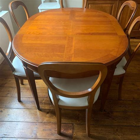 Solid Wood Oval Dining Table furniture by owner