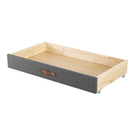 Solid wood and upholstered beds with under bed storage