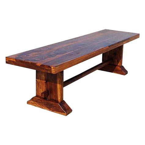 Solid wooden benches and bench seating for indoors and