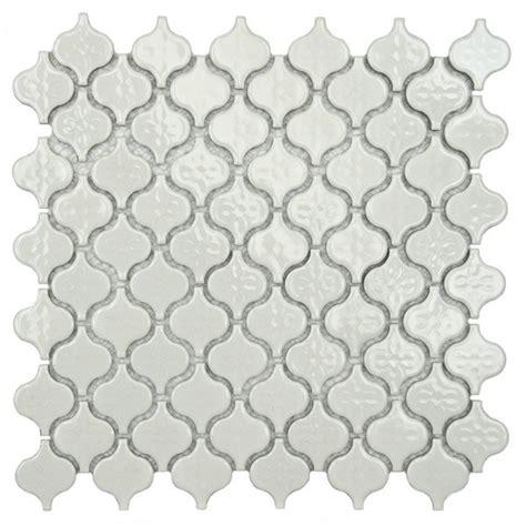 SomerTile White Porcelain Mosaic Tile Overstock