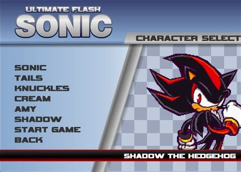 Sonic And Shadow Games GamesBox FLASH