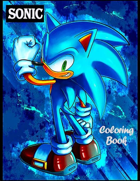 Sonic The Hedgehog Coloring Book aokang store