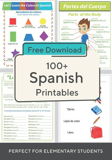 Spanish Foreign Language Worksheets Free Printables