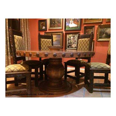 Spanish Hacienda Dining Table with Breadboard Ends