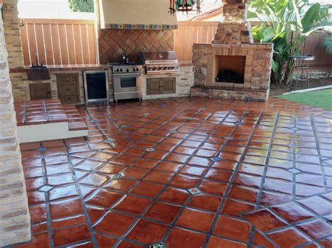 Spanish Mission Red Handcrafted Floor Tiles