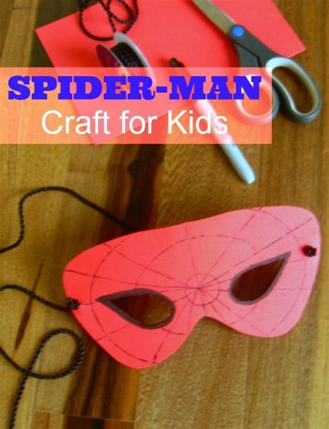 Spider Man Mask Craft for Kids Perfect for Any Party