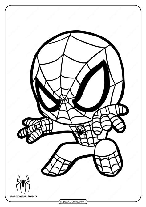 Spiderman Coloring Pages for Kids