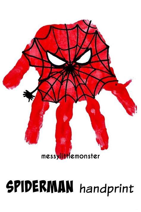 Spiderman Handprint Messy Little Monster