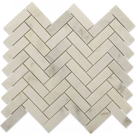 Splashback Tile Oriental Sculpture Herringbone 12 in x 12