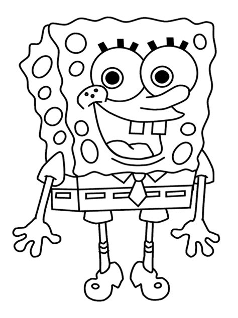 Spongebob Free Coloring Pages for Kids