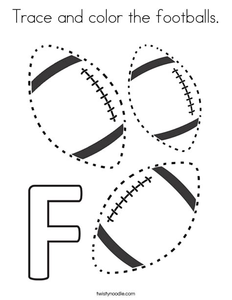 Sports Coloring Pages and Tracer Pages