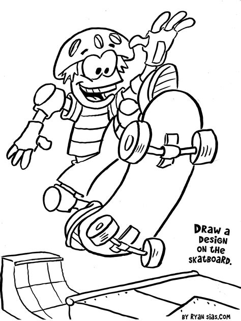 Sports Themed Coloring Pages