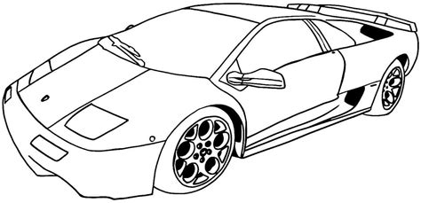 Sports car coloring pages for boys