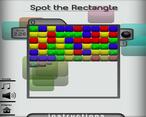 Spot the Rectangle Mindjolt Games