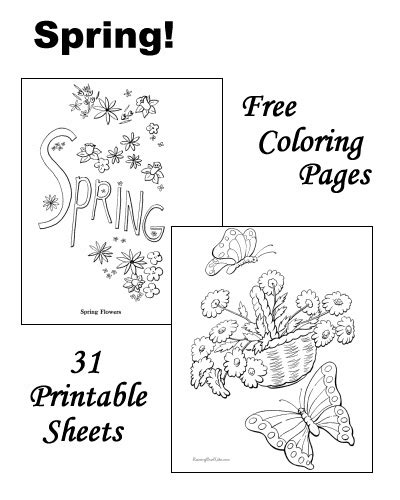 Spring Coloring Pages Raising Our Kids