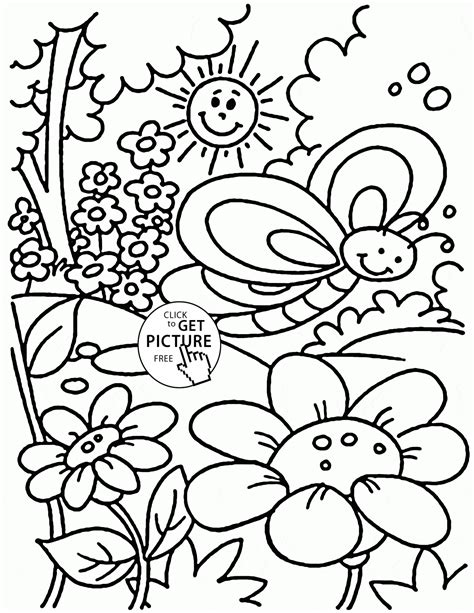 Spring Coloring Pages Spring Season Coloring Page Sheets