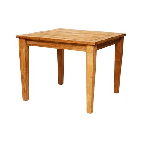 Square 36 inch Grade A Teak Outdoor Dining Table