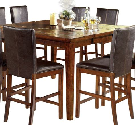 Square Counter height Dining Table Houzz