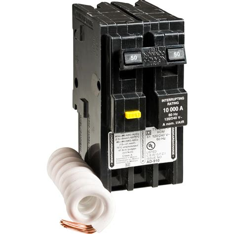 square d pole gfci breaker wiring diagram images square d homeline 50 amp 2 pole gfci circuit breaker
