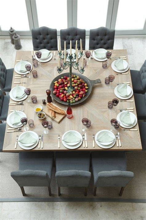 Square Dining Room Table For 12 People Images Design