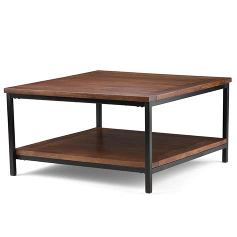 Square Ox Cart Coffee Table Industrial Coffee Tables