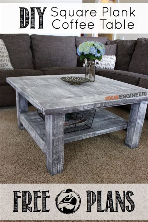 Square Plank Coffee Table Rogue Engineer