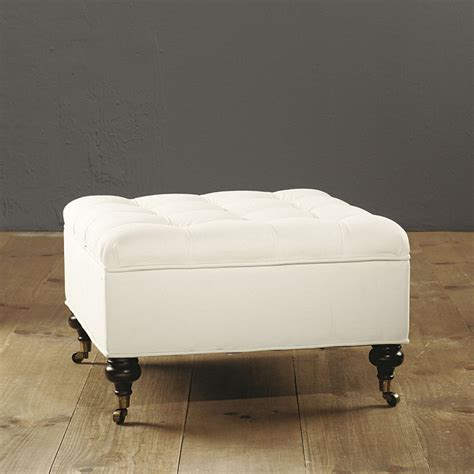 Square Tufted Storage Ottoman Ballard Designs