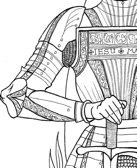 St Joan of Arc Coloring Page Catholic Icing