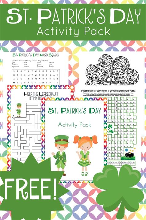 St Patrick s Day Activities for kids and teachers http