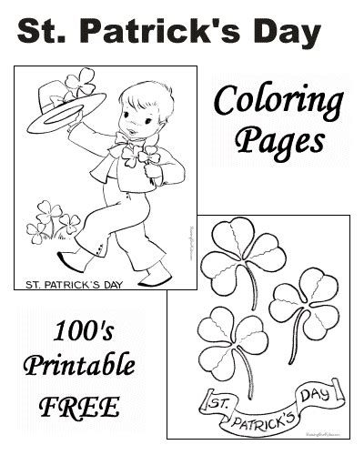 St Patrick s Day Coloring Pages Raising Our Kids