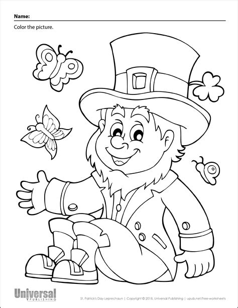 St Patrick s Day Coloring Pictures