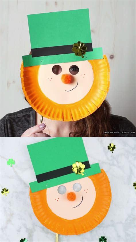 St Patrick s Day Leprechaun Paper Plate Mask