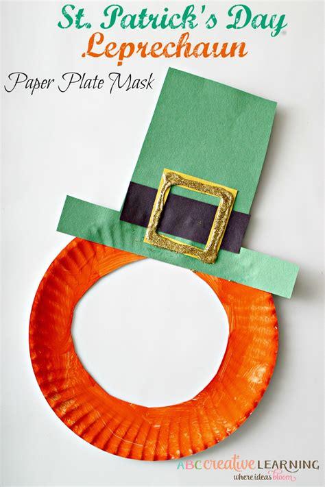 St Patrick s Day Shamrock Mask St Patrick s Day Crafts