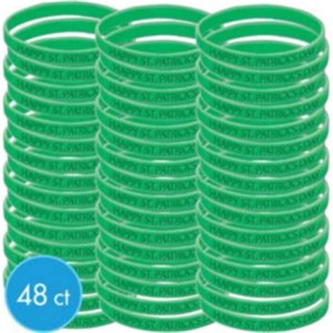 St Patricks Day Green Attitude Bracelet Kit 48ct Party City